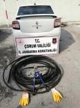 Çorum'da Kablo Hırsızı Yakalandı
