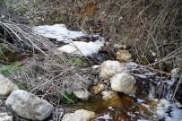 Derenin Suyu Kahverengi Ve Köpüklü Akıyor