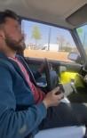 Otomobilin Direksiyonunu Yerinden Çıkartıp Hem Kendi Hem De Diğer Sürücülerin Canını Hiçe Saydı