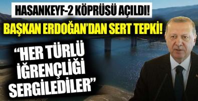 Başkan Erdoğan'dan Hasankeyf-2 Köprüsü açılışında önemli açıklamalar!