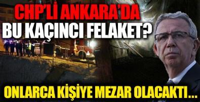 CHP'li Ankara Belediyesinden yeni rezalet! Felaketin eşiğinden dönüldü