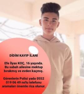 Didim'de 16 Yaşındaki Efe Not Bırakarak Ortadan Kayboldu