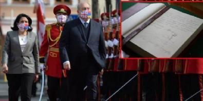 Ermeni Cumhurbaşkanı rüyalara daldı! Şeref defterine Ağrı Dağı'nı çizdi