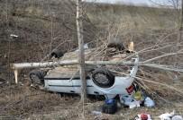 Kontrolden Çıkan Otomobil Şarampole Devrildi Açıklaması 1 Ölü 1 Yaralı