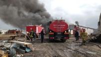 Uşak OSB'de İplik Fabrikasında Korkutan Yangın