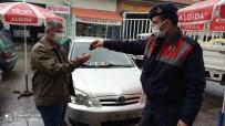 Evini Taşırken Çaldırdığı Arabasını Jandarma Bulup Teslim Etti