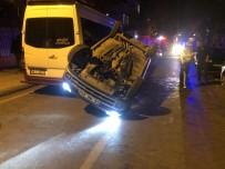 İki Araca Çarpan Otomobil Takla Attı Açıklaması 2 Yaralı