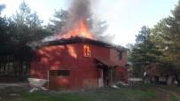 Mesire Alanı İçindeki 2 Katlı Evde Yangın