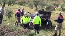 Kilis'te Otomobil Şarampole Yuvarlandı Açıklaması 2 Yaralı