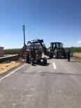 Çiftçinin Traktörü Devrildi, İmdada Kocasinan Belediyesi Yetişti