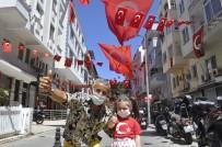 Marmaris'te 23 Nisan, 105 Sokakta  Balkonlarda Kutlanacak