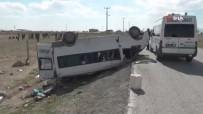 Tarım İşçilerini Taşıyan Minibüs Devrildi Açıklaması 2 Ölü, 6 Yaralı