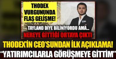 Thodex'in kurucusu Faruk Fatih Özer kaçtığı iddialarını yalanladı: Yatırımcılarla görüşmeye gittim