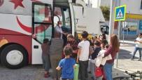 23 Nisan Çocuk Otobüsü Datça'da Çocukları Sevindirdi