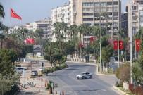 3 Günlük Sokağa Çıkma Yasağının İlk Günü Mersin'de Sessizlik Hakim