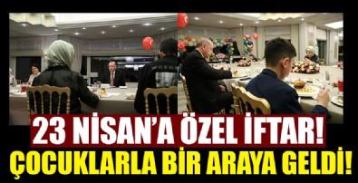 Başkan Erdoğan iftarda çocuklarla bir araya geldi!
