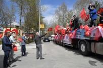Isparta'da 23 Nisan Tırıyla Coşkulu Kutlama