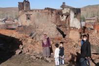 Akşam Saatlerinde Evleri Yanan 5 Kişilik Aile Evsiz Kaldı