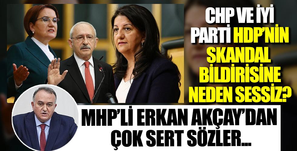 CHP ve İYİ Parti HDP'nin skandal 'soykırım' bildirisine neden sessiz? MHP'li Erkan Akçay'dan sert sözler