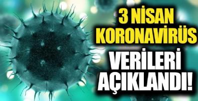 Sağlık Bakanlığı 3 Nisan koronavirüs tablosunu açıkladı!