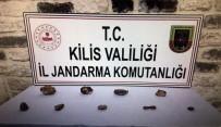 Kilis'te 7 Adet Fosil İle 2 Adet Doğal Taş Ele Geçirildi