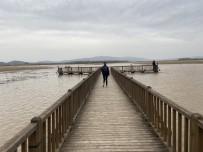 Efteni Gölü'nün Su Seviyesi İskeleye Kadar Yükseldi