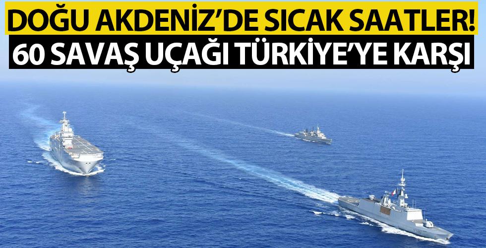 Ζωντανές ώρες στην Ανατολική Μεσόγειο!  60 πολεμικά αεροπλάνα εναντίον της Τουρκίας από …