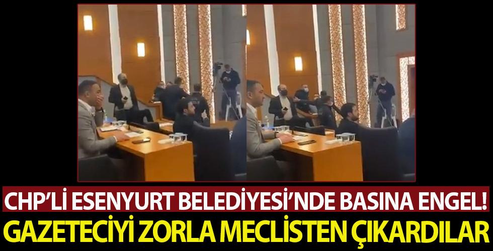 Esenyurt Belediye Meclisi'nde basına engel! Gazeteciyi zorla Meclis'ten çıkardılar
