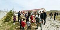 Okul Bahçesinde Fidan Dikimi