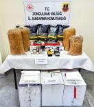 37 Kilogram Tütün Ve 20 Bin Makaron Ele Geçirildi