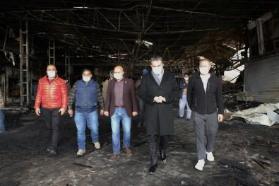 ATO'dan Kızılcahamam Kasaplar Çarşısı'ndaki Yangında Zarar Gören İş Yerlerine Ziyaret