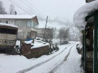 Bartın'da Kar Yağışı Yüksek Kesimlerde Etkili Oldu