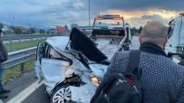 Düzce TEM'de 12 Araç Zincirleme Kaza Açıklaması 9 Yaralı