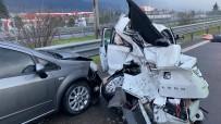 Düzce TEM Otoyolu'nda 14 Araç Birbirine Girdi Açıklaması 8 Yaralı