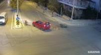 Karaman'da İki Ayrı Trafik Kazası MOBESE Kamerasına Yansıdı