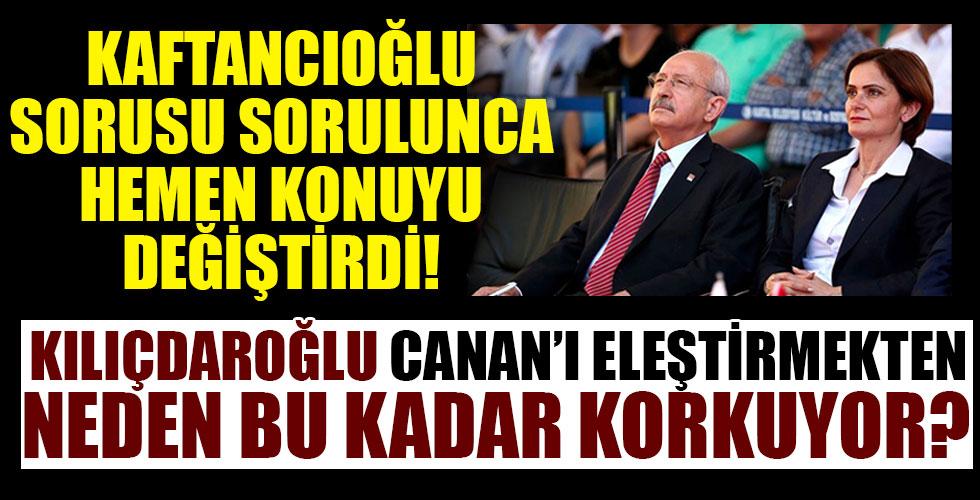 Kılıçdaroğlu konu Canan'a gelince lafı değiştirdi!