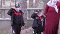 Şehidin Çocukları 'Polis Günü'nde Babalarını Polis Üniforması İle Ziyaret Etti