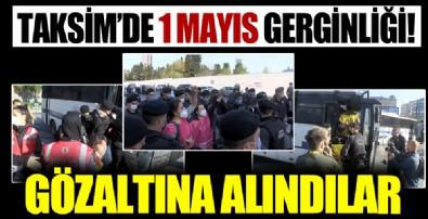 1 Mayıs provokasyonu: Taksim'e yürümek isteyen grup polis tarafından gözaltına alındı