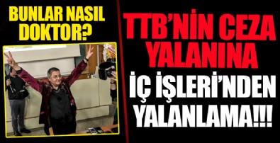 İçişleri Bakan Yardımcısı, Türk Tabipleri Birliği'nin sağlıkçılara ceza kesildiğini iddiasını yalanladı
