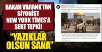 Bakan Varank'tan The New York Times'a Filistin tepkisi: Katilleri haklı çıkarmayı ve dünyaya yalan söylemeyi bırakın