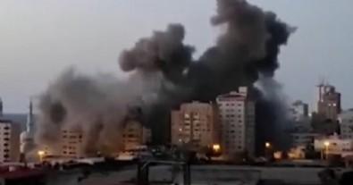 İsrail Gazze Şeridi'nde bulunan 13 katlı binayı vurdu
