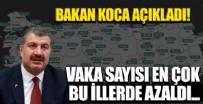 Sağlık Bakanı Fahrettin Koca açıkladı! İşte vaka sayısının en çok azaldığı 5 il...
