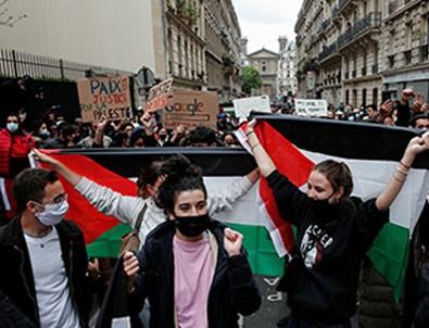 Fransa'da Filistin'e destek gösterilerine sert polis müdahalesi!