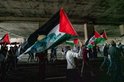 Binlerce kişi sokağa indi! Filistin'e destek İsrail'e tepki