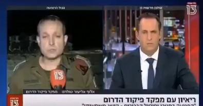 İsrailli komutanın zor anları kamerada! Ordusunun başarısından bahsederken…
