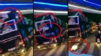 SAKARYASPOR - Kocaelispor'un şampiyonluk turunda kaza: İki futbolcu üstü açık otobüsten düştü