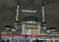 Taksim Camii'nin ilk mahyası: Elhamdülillah!