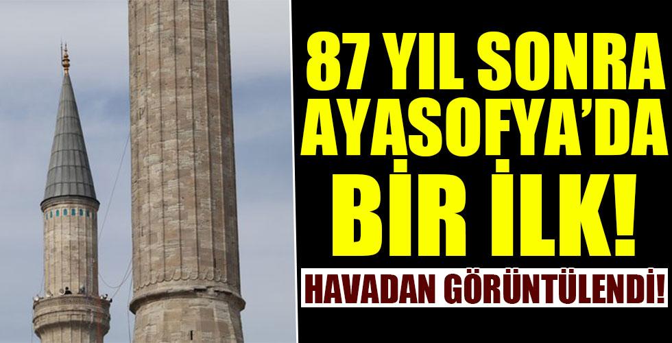 Ayasofya Camii'nde 87 yıl sonra bir ilk!