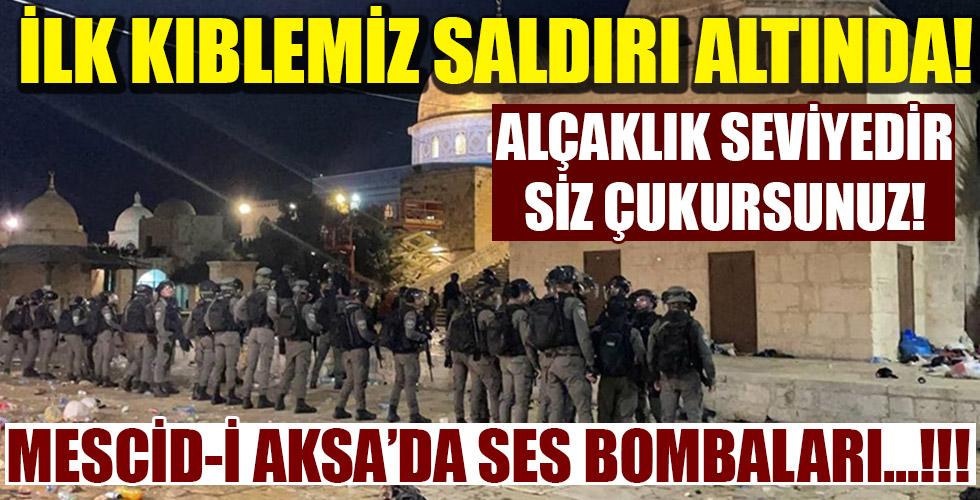 İsrail polisinden alçak saldırı! Mescid-i Aksa'da ses bombaları!