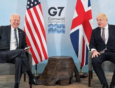 Biden ve Johnson yüz yüze görüştü!